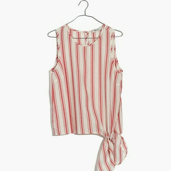 Madewell Tops - Madewell striped side tie tank top
